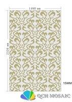 Керамика мозаика для украшения дома плитки мозаики головоломки белый и золотой размер 1480xH2320mm