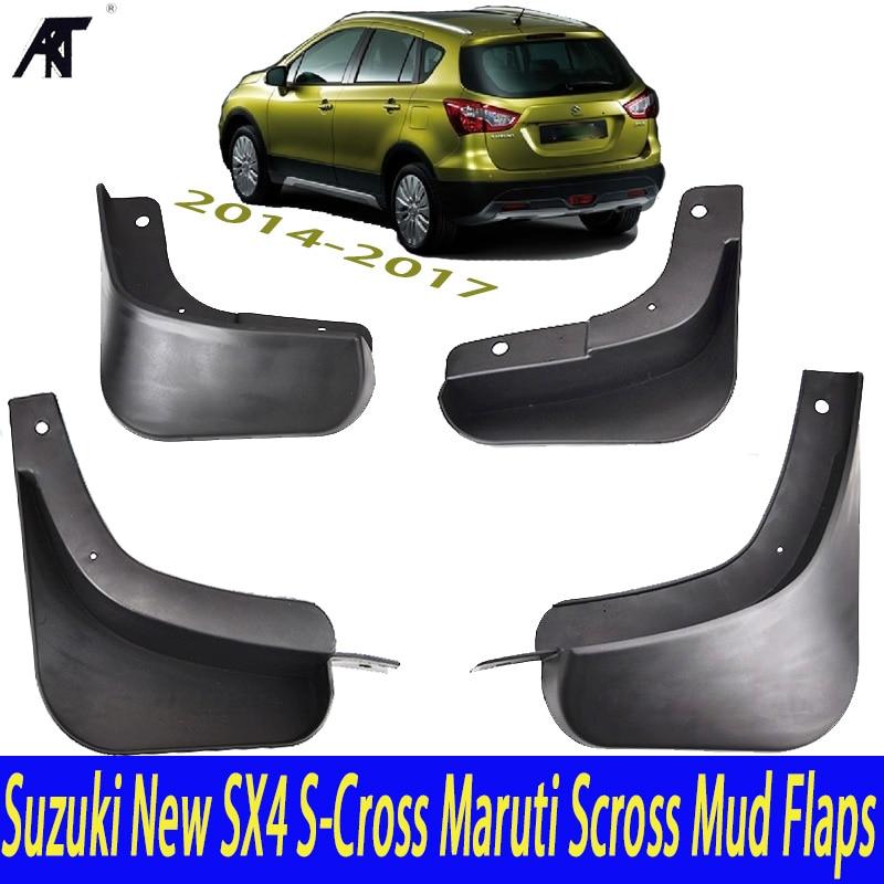 Mud Flap Car Mud Flaps For 2014-2017 Suzuki New SX4 S-Cross Maruti Scross Mudguards Fender 2015 2016 2018 Mudflaps Splash Guards