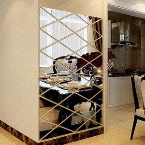 Image 1 - DIY 3D 스티커 거울 스티커 홈 거실 장식 벽 스티커 vinilos decorativos para paredes 입술 스티커 벽