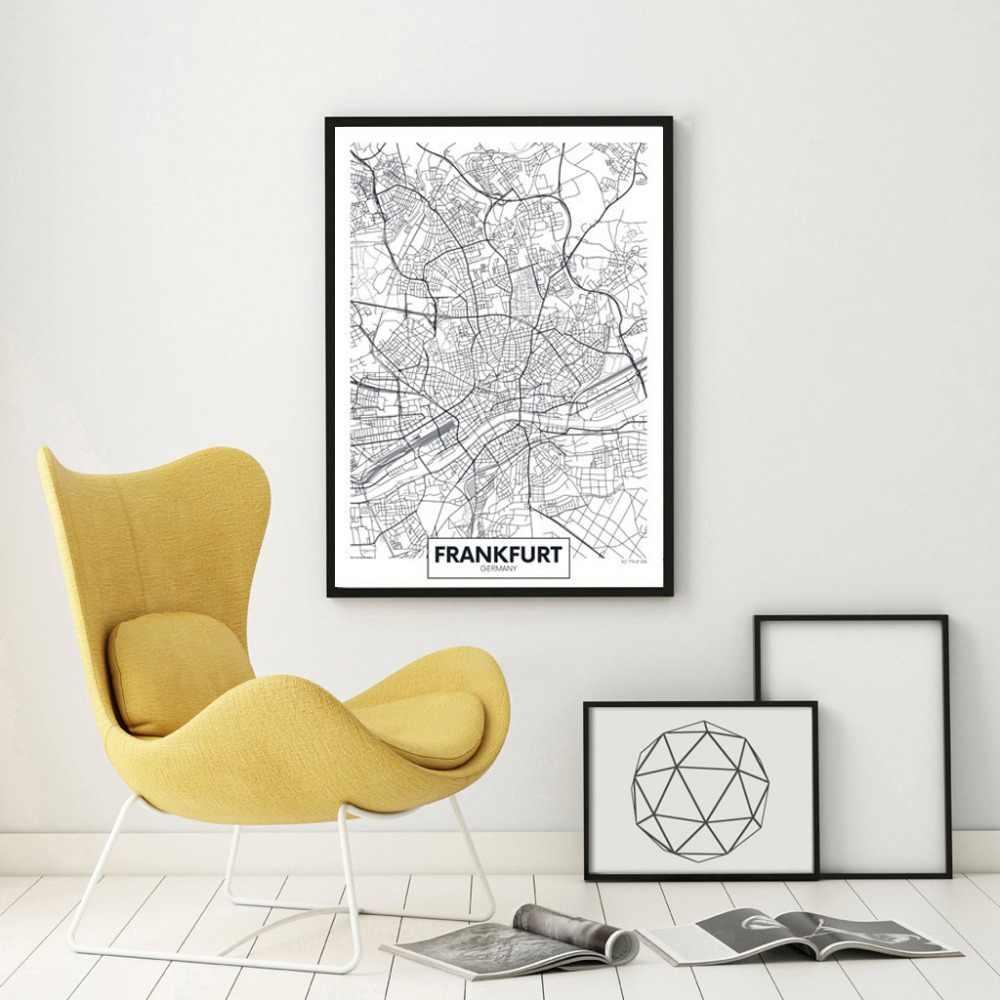 Hamburg Germany Coordinates Black /& White World City Travel Quote Poster Print