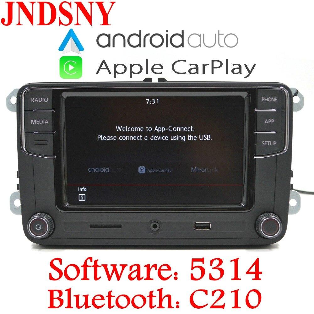 JNDSNY Android Auto CarPlay R340G RCD330 Noname RCD330G Più Auto Radio Per VW Golf 5 6 Jetta Passat CC Tiguan polo 6RD 035 187B