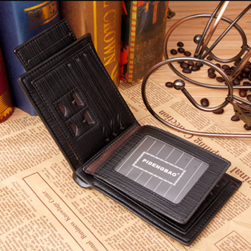 Men's Purse Card Wallet Vintage PU Leather Money Short Wallets Purse Birthday Gifts New