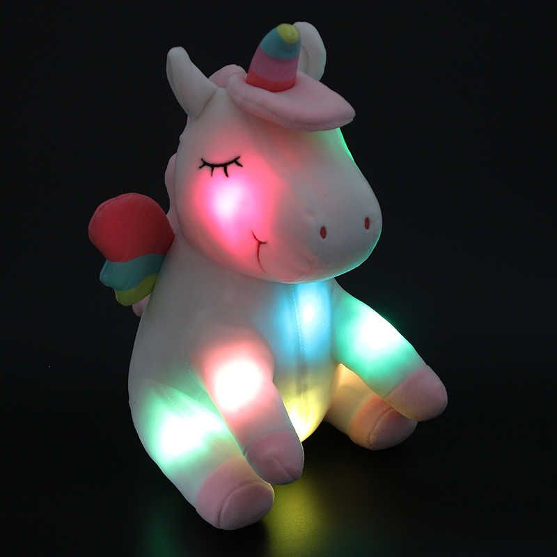 df36a291009 Dropshipping Free Shipping 30cm LED Plush Unicorn Toys Light Up Stuffed  Animals White Glowing Unicorn Toys