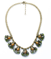 xl00927 Fashionable Gold Color Personalised Chain Bijoux Crystal Charms Egyptian Necklace Wholesale Price