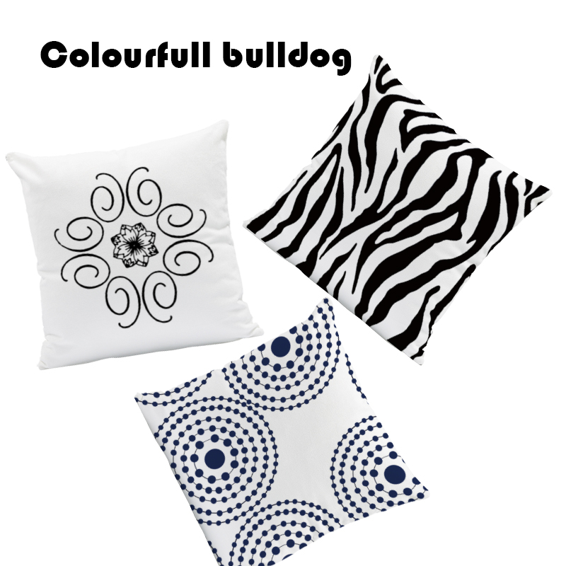 Black And White Abstract Cushion Covers Geometry Nordic Style Pillow Gamer Chair Baby Birth Gifts Pillowslip Covers Large Velvet