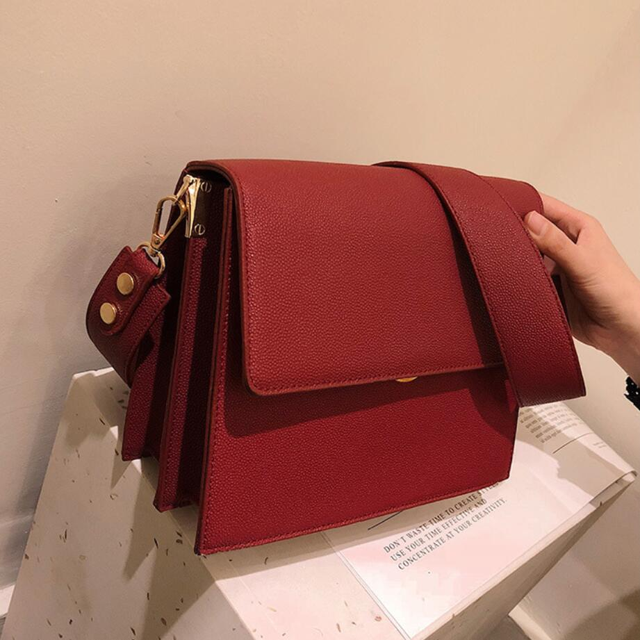 Luxury Brand Handbag 2019 Fashion New High Quality PU Leather Women's Designer Handbag Large-capacity Shoulder Messenger Bags