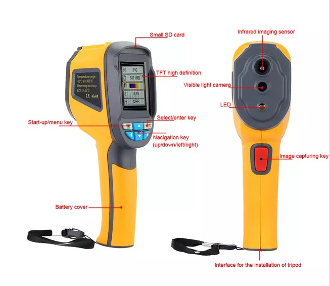Portable Thermal Camera With Visible Light Camera For Imaging Camera 5
