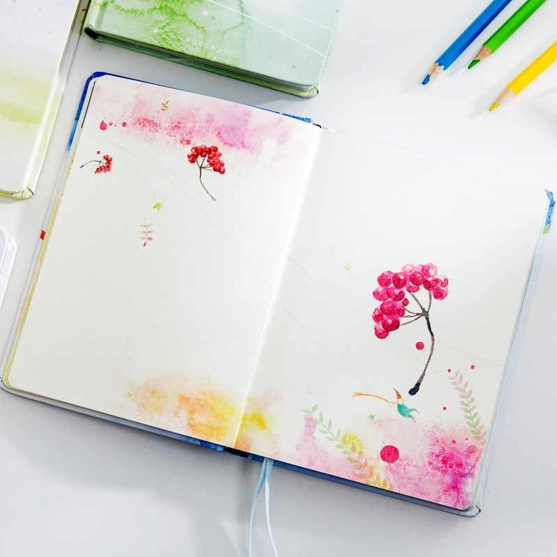Creative Notebook Handbook Diary Planner Cute Color Page Blank