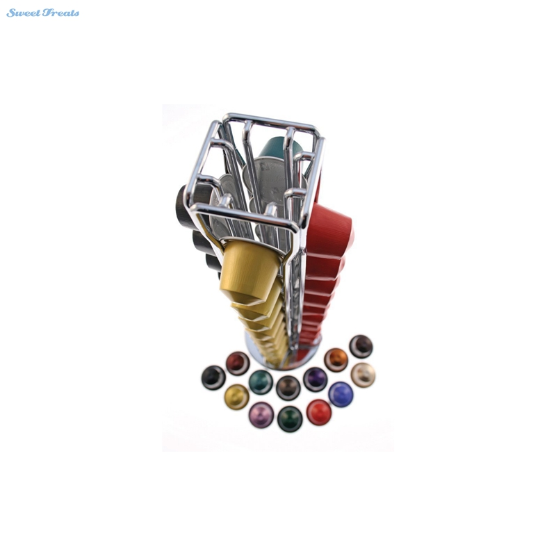 Sweettreats Nespresso Coffee Capsules Holder Carousel. Holds 40 Nespresso Pods Coffee Capsules Stand Coffee Racks