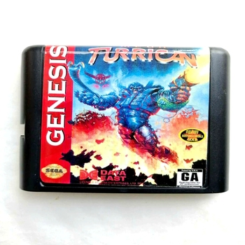 Tarjeta de memoria MD de 16 bits Turrican para Sega Mega Drive 2, para SEGA Genesis Megadrive
