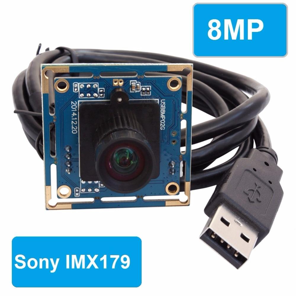 8mm lens 8 0 megapixel SONY IMX179 Mini UVC USB 2 0 high speed interface CCTV