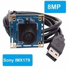 8 мм объектив 8,0 мегапиксельная SONY IMX179 мини UVC USB 2,0 high speed интерфейс камеры видеонаблюдения совета Модуль 8MP для android/Linux/Windows