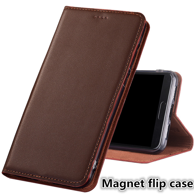 JC02 Genuine Leather Magnet Flip Case For Xiaomi Redmi Note 7 Phone Case For Xiaomi Redmi Note 7 Pro Phone Bag With Kickstand redmi note 7 pro cover