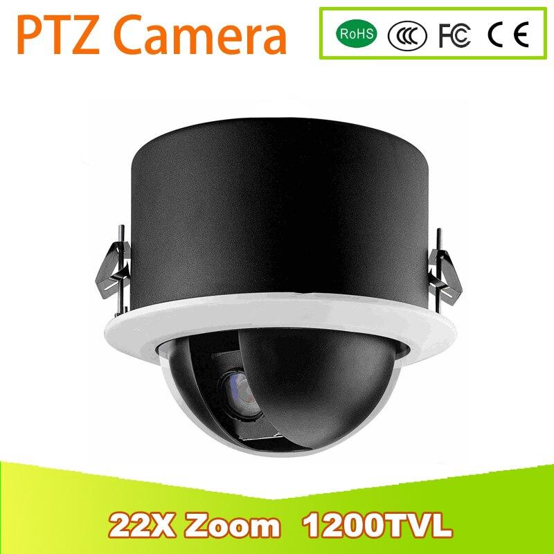 YUNSYE 22X Zoom 1200TVL SONY CCD PTZ caméra dôme haute vitesse CCTV PTZ caméra analogique extérieure caméra panoramique inclinaison Zoom DC12V5A caméra