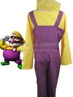 Super Mario Bros Wario Cosplay Kostuum