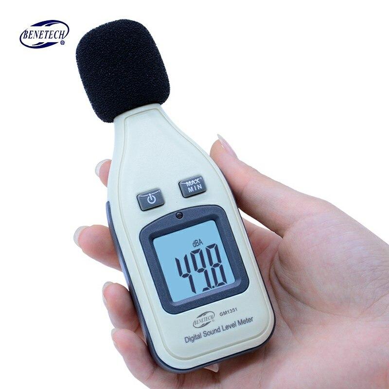 BENETECH Digital Noise Sound Level Meter GM1351 Noise Tester 30-130dB in decibels 4digits LCD Analyzer TesterBENETECH Digital Noise Sound Level Meter GM1351 Noise Tester 30-130dB in decibels 4digits LCD Analyzer Tester