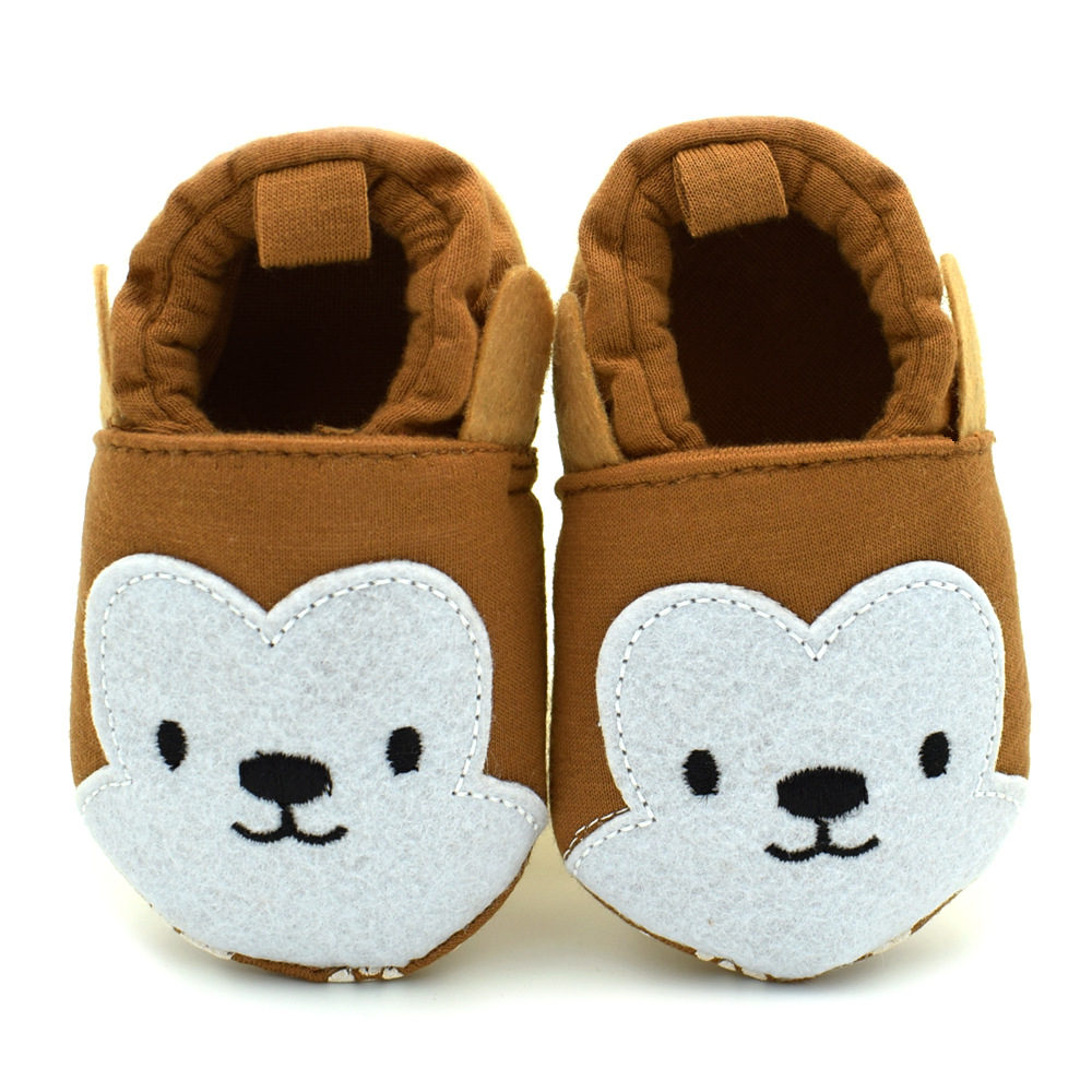 cca718822e0 11-13cm Fashion Baby Girls Boy Shoes High Cute Cartoon Brown Monkey Kids  Shoes Soft Baby First Walker 0-18Month