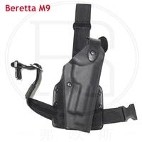 Good Quanlity Beretta M9 92 96 Gun Holster Military Gun Carry Leg Holster For Airsoft Pistol Thigh Gun Holster