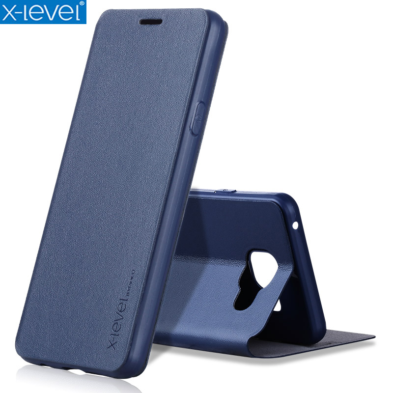 X-Level Book Läderfodral för Samsung Galaxy A3 2016 A310 A310F Ultra Thin Business Leather Funda Cover Case