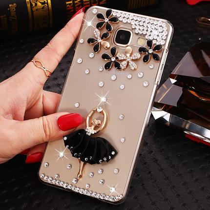 3D Fashion Bling girl Case for Samsung Galaxy J7 Prime Duos G610F/DS SM-G610F/DS Phone Cover ON 7 2016