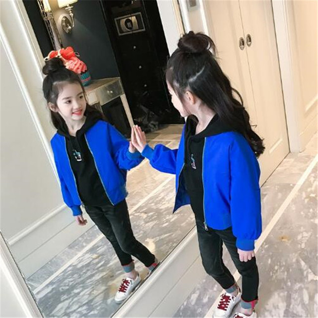 2018 New Children Outerwears Coat Girls Jacket Baby Outwear Coats Spring Autumn Kids Jackets 4-15T Solid Toddler Girl Clothing