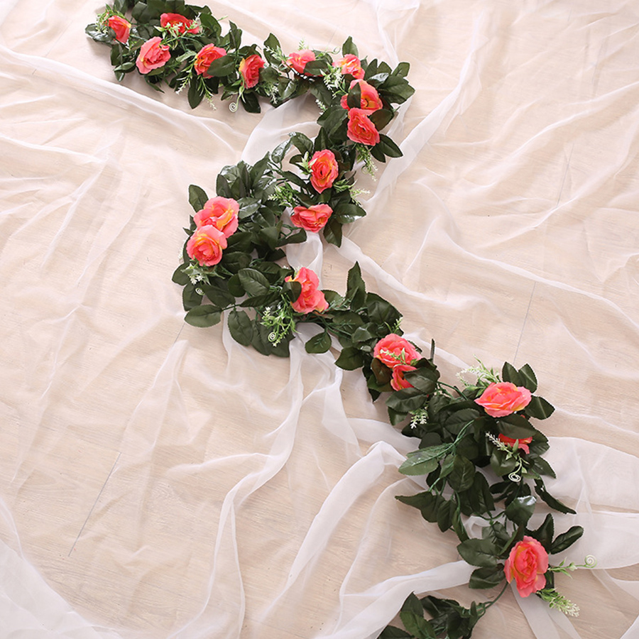 Silk Rose Artificial Hanging Flowers for Wall Decoration Wedding Home Decor 3