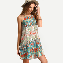 Summer M L XL Women Dress Vintage Summer Mini Dress Evening Party Cocktail New Swimming Beach Cover-Ups