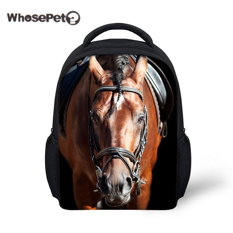 WHOSEPET Horse Cool Rucksack Shoulder Bag Mini Schoolbag Toddle Kids Bags Bookbag Back Pack for Children Boys Mochila Infantil