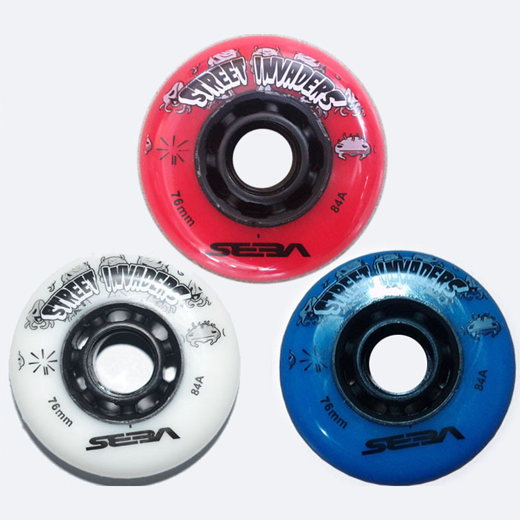 Invaders Skate Wheels 84A Slalom Roller Skating Wheels SEBA HIGH IGOR WFSC Wheels Slide Roller Sliding