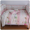 Promotion! 6/7PCS Baby Bedding Sets,Duvet Cover,Baby Cot Bedding Sets Sale ,120*60/120*70cm