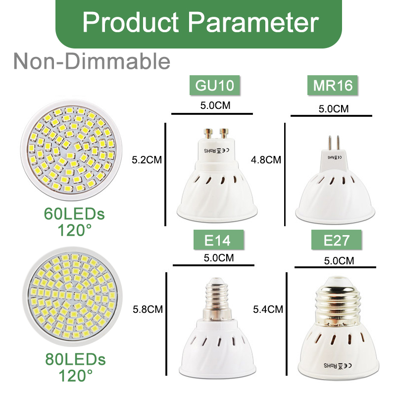 Image 5 - Kaguyahime Dimmable LED Spotlight Led Lamp MR16 E27 GU10 GU5.3 MR11 6W 7W 8W 220V DC 12V Spot LED Bulb Light Lampada Bombillas-in LED Bulbs & Tubes from Lights & Lighting