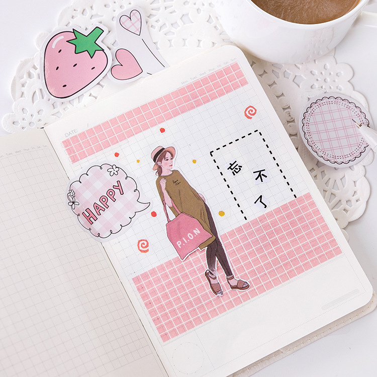 Купить с кэшбэком 45PCS/box Cute Strawberry Flavor Paper Lable Sealing Stickers Wash sticker scrapbook label diary stationery album sticker