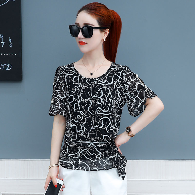 Brand New Design Women Spring Summer Style Chiffon Blouses Shirts Lady Girls Casual Bow  ...
