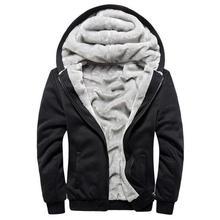 Sudaderas con capucha de los hombres con capucha de lana Casual invierno  espesado abrigo hombre de Hombre Sudaderas chaqueta con. 699d716781c