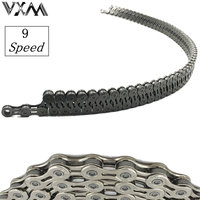 VXM Bicycle chain hollow Carbon steel chains 9 speed 116 links ultralight Mountain/Road bike variable 27 speed Bicycle Parts