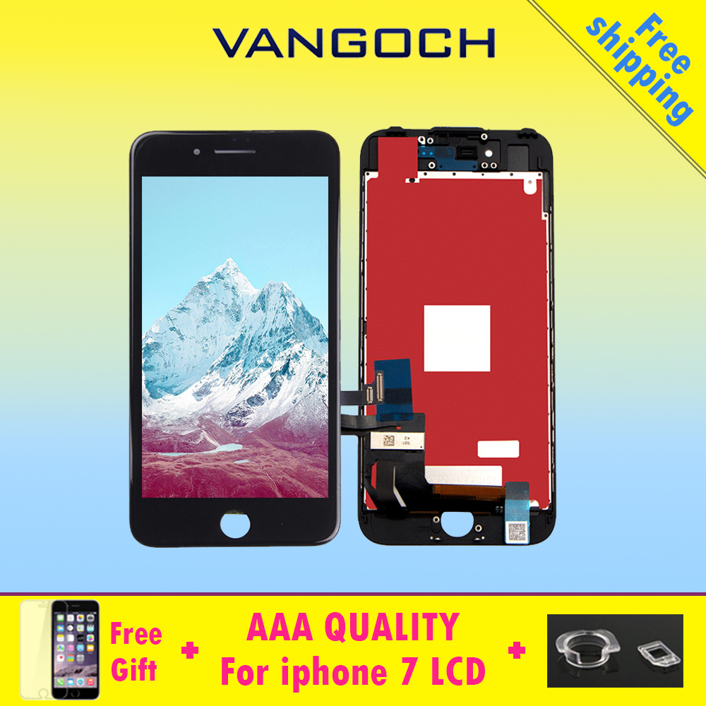 3pcs AAA Quality No Dead Pixel Display for iPhone 7 LCD Replacement with 3D Touch Digitizer Assembly Replace Screen DHL Shipping