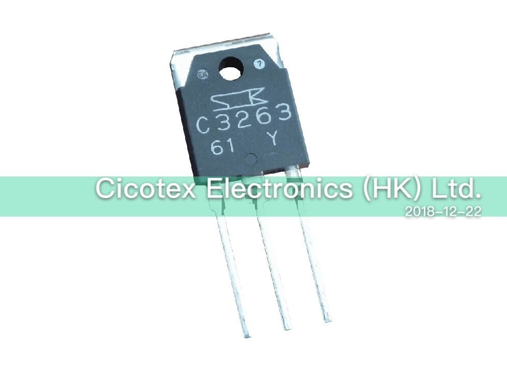 2SC3263 TO3P C3263 2SC3263Y TRANS NPN 230V 15A, 2SC3263-Y, с функцией управления потоком воздуха, с функцией подключения к сети, 230 В, 15 А, с функцией передачи данных