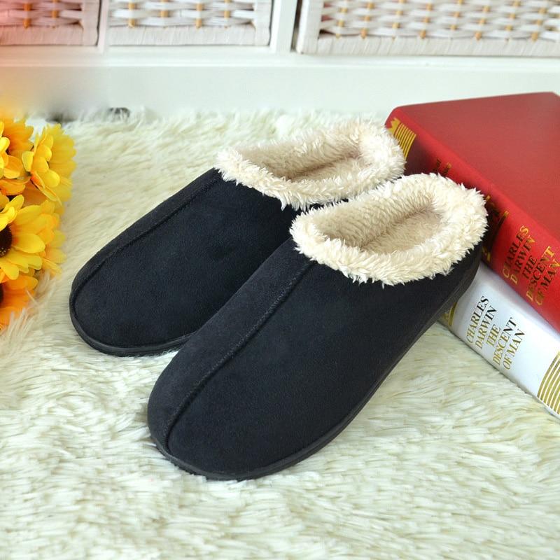 2016 Winter font b Women b font Men Indoor Hommer Floor Warm Slippers Lovers House Shoes