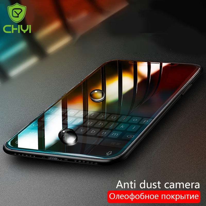 CHYI Premium-Glass Screen-Protector Oleophobic-Coating IPhone 8 6s-Plus For X XR Xs-Max