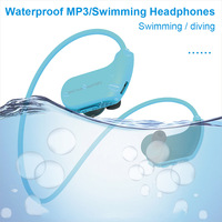 IPX8 Waterproof Wearable MP3 Player MP3 Earphones for Running Swimming NK Shopping