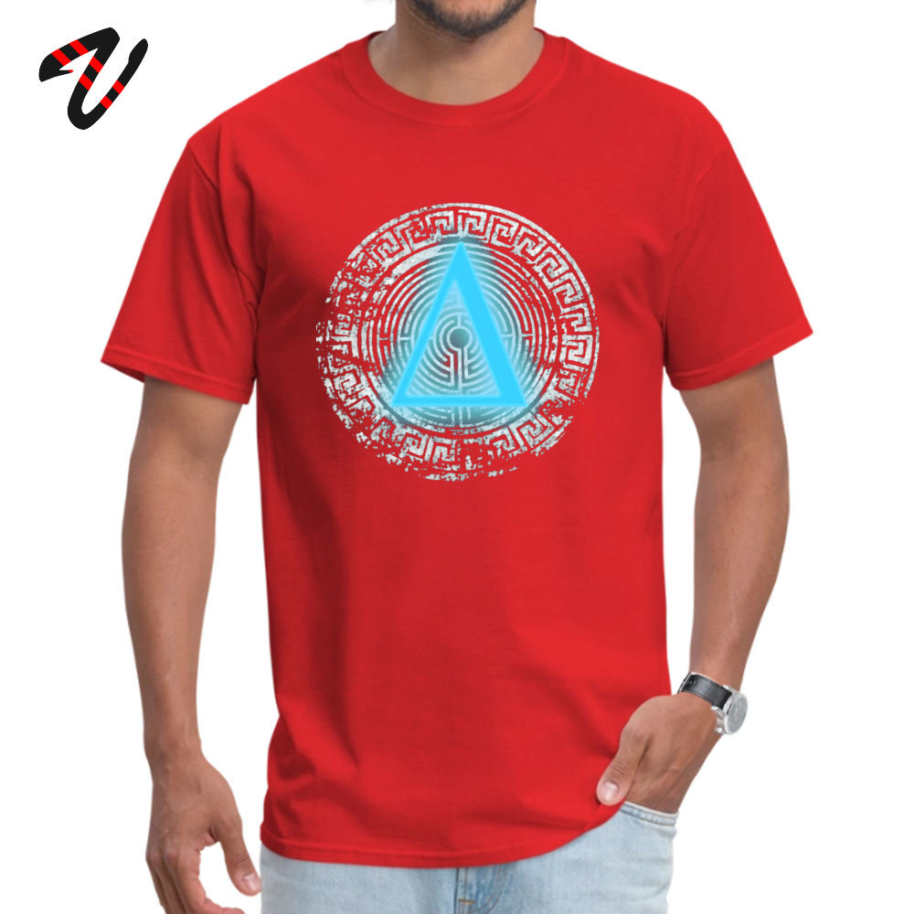 Street Daedalus O-Neck T-Shirt April FOOL DAY Tops T Shirt Short Sleeve for Men New Design 100% Cotton Fabric Top T-shirts Daedalus 12251 red