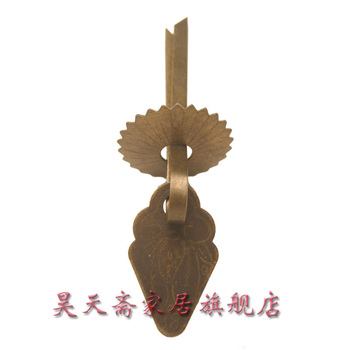 [Haotian vegetarian] Chinese home copper fittings / vein Handle length 3cm / drawer handle HTE-092