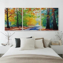 Laeacco 3 Panel Spring Watercolor Posters and Prints Canvas Painting Wall Artwork Nordic Home Living Room Decoration