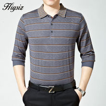 Top Quality Fall Dress Long Sleeve Cashmere Sweater Shirt Men Wool Pullover Men Casual Striped Turn-down Collar Pull Homme 66112