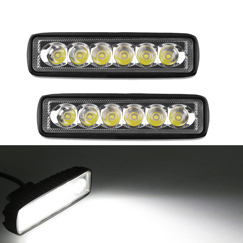 Urbanroad 2Pcs White 9-30V Truck Fog Light Assembly Car Led Work Light Lamp Spot Flood Drl For Off Road Truck Bus Boat Black 2016 new super bright 50w 12 inch 9 led car off road lamp 9 32v ip68 automobile truck work light fog driving light energy saving