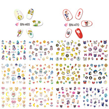1 Set of 12pcs Water Foils Nail Art Sticker Girls' Nails Cartoon Mixed Design Decals Nail Decorations Water Slide Nail Art Deca diy water transfer foils nail art sticker fashion nails cartoon harajuku sailor moon decals minx nail decorations
