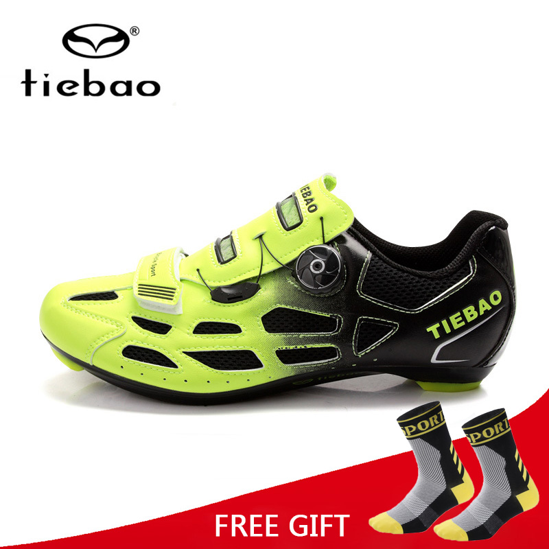 Tiebao Bicycle Cycling Shoes Breathable Men Women Road Bike Racing Athletic Shoes S2-Snap Tuning Knob Fastener zapatillasTiebao Bicycle Cycling Shoes Breathable Men Women Road Bike Racing Athletic Shoes S2-Snap Tuning Knob Fastener zapatillas