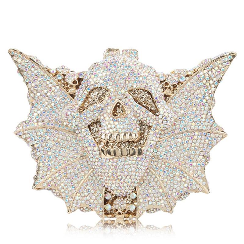 Doré 8 Diamant Argenté Bandoulière 6 Femelle Femmes Multicolore Métal Chaîne 1 Main Cristal 4 7 À Sacs Embrayages 9 Épaule Red 2 3 Sac Soirée g8nq10d