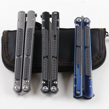 Завет бабочка в ножей кВт Керамика шарикоподшипник S35VN BladeTC4 + CF ручка Stonewash Finsh BRS Replicant нож BM42