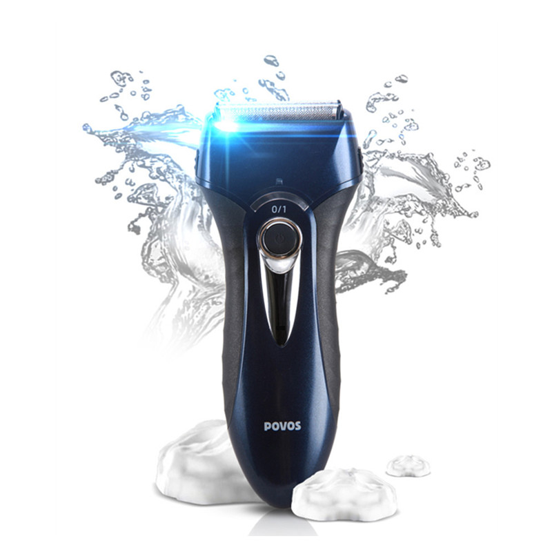 Rechargeable Electric Shaver for men Triple blade Washable face Shaving razor Beard trimmer 1.5 hours charge POVOS PS8108